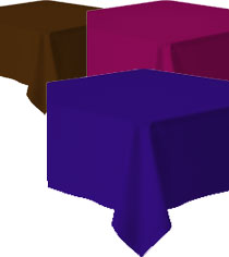 Tablecloth – 90 x 90mm Square Coloured